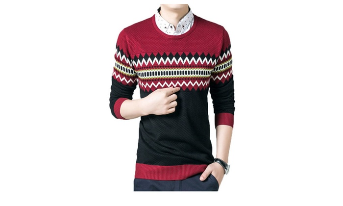 DPN Men's Retro Fashion Autumn Polyester Pullovers