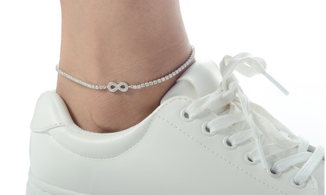 Infinity or Star Anklets Made With Crystals by Elements of Love