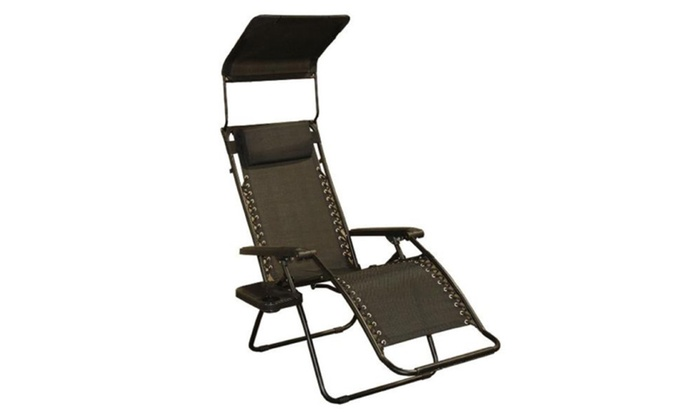 Zero Gravity Lawn Chair With Canopy Shade U0026 Magazine Cup Holder ...