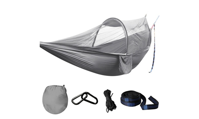 Double Person Travel Outdoor Nylon Camping Tent Hanging Hammock Bed   H