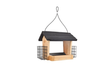 Birds Choice WC2-300S-S 11 Quart Cedar 2-Sided Feeder with Suet Cages (Goods For The Home Patio & Garden Bird Feeders & Food) photo