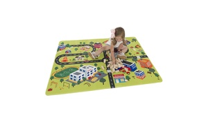 Baby Play Mat for Kids, Microfiber Flannel Fleece & Foam Mat with Non Slip Back