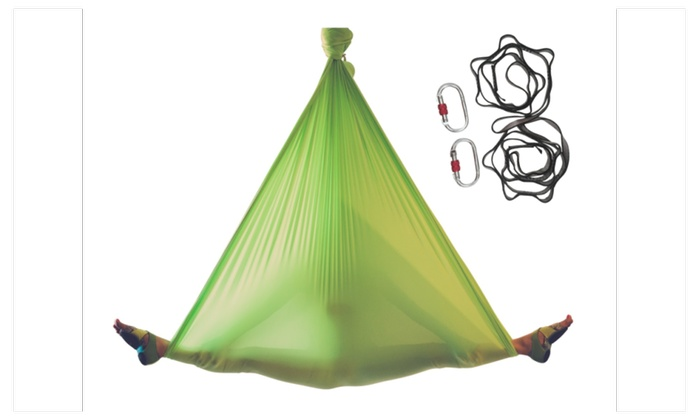aerial yoga hammock with rigging equipment aerial yoga hammock with rigging equipment   groupon  rh   groupon