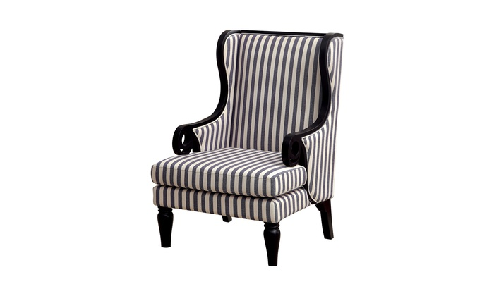 Swell Nan Transitional Wingback Accent Chair Bralicious Painted Fabric Chair Ideas Braliciousco