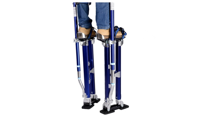 Drywall Stilts Aluminum Tool Stilt For Painting 24-40 Inch - Black