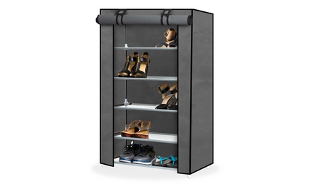Premium Shoe Organizers with Dust-Proof Cover (5-Tier or 8-Tier)
