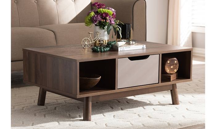 Britta Two Tone Wood Coffee Table