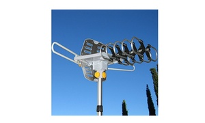 150Miles Outdoor Tv Antenna Motorized Amplified Hdtv High Gain 36Db