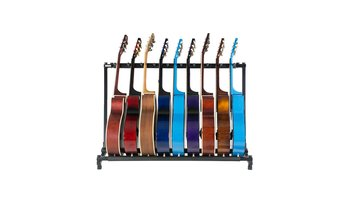 Triple Folding Multiple Guitar Holder Rack Stand (3/5/7/9)