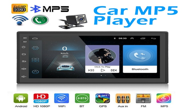 """7/"""" Double 2Din Quad Core Android 8.1 Car Stereo MP5 Player GPS Navi FM Radio Cam"""