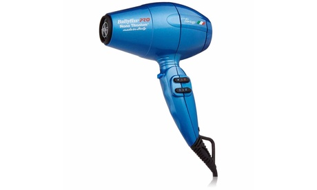 BaBylissPro Nano Titanium Torino Mid-Size Hair Dryer, Blue, BABNTB6160N