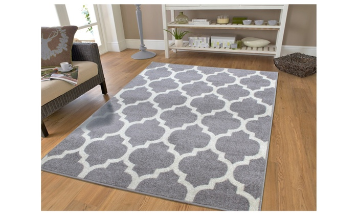 Lattice Pattern Area Rugs Contemporary Living Room Rug