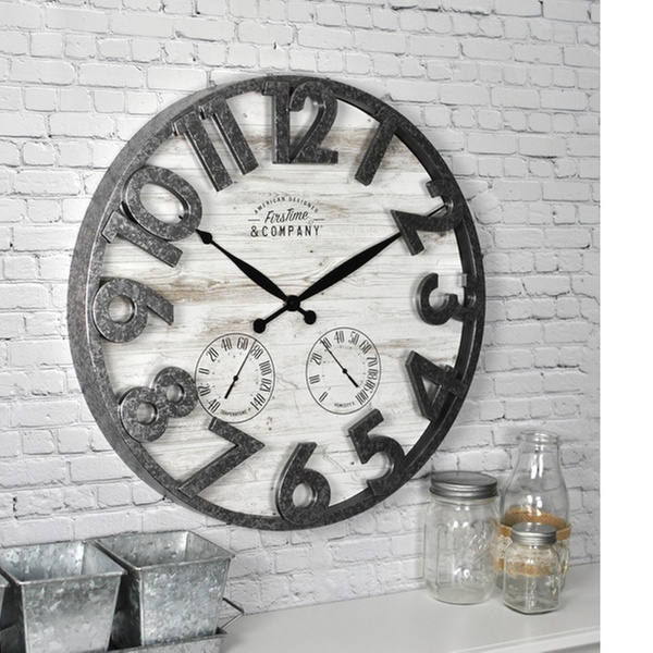 Firstime Co Outdoor Wall Clocks