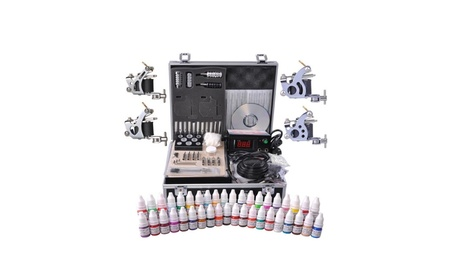 Professional Complete Tattoo Kit 4 Machine 40 Ink Gun Power Supply c6a4a0c6-78fa-4919-aecc-05c4199a2497