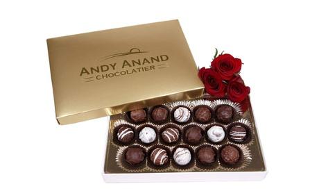 Sugar Free Belgian Chocolate Truffles Gift Box & Greeting Card Valentines Day