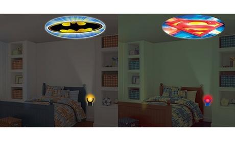 DC comics batman and superman projection night light 391b9efb-b80c-430a-8264-0b72369d59b0