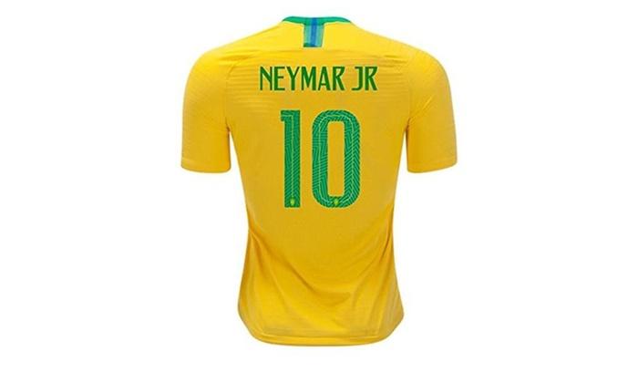buy online de1b1 17770 Neymar Jr #10 Brazil National Team Soccer Jersey Mens 2018