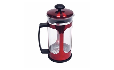 WYNDHAM HOUSE 34oz (1 liter) Red Metallic Premium French Press e93c1cd4-254d-4ec9-a90d-d52d1caa0572