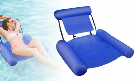 Inflatable Water Hammock Pool Float Bed Lounger Chair Drifter Air Lounger Sofa