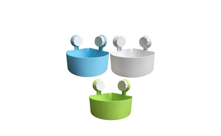 Bathroom Kitchen Plastic Suction Cup Corner Storage Rack Organizer b8d384ec-3abc-4693-8c39-e088aedccfe3