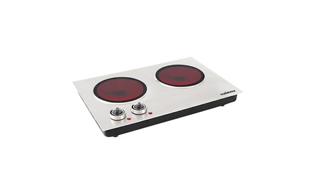 Cusimax CMIP-C180 1800W Infrared Cooktop, Ceramic Double Countertop photo