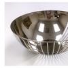 """Elegance Siamese Round Basket 10.25"""" Stainless Steel"""