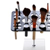 Makeup Brush Drying Holder with Crystal Clear Acrylic Base, 26 holes