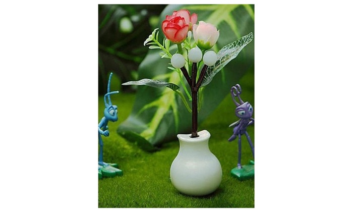 Cartoon Light Operated Flower Vase Table Lamp Light Led Groupon