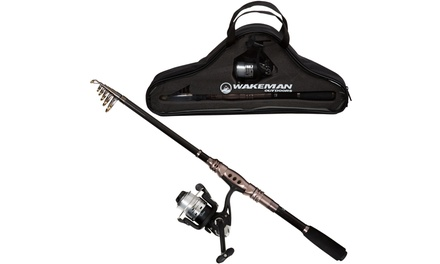 Fishing Rod and Reel Combo, Spinning Reel, Telescopic Pole, Fishing Gear