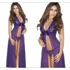 Women Lace Bust Underwear Set Long Gown Lingerie - TCWL208