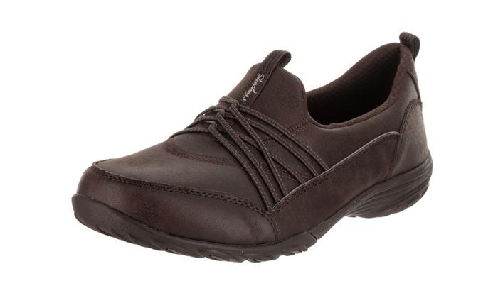 112c387643e Skechers Women s Empress - Let s Be Real - Wide Fit Slip-On Shoe Wide  Chocolate 5.5 Wide Women US