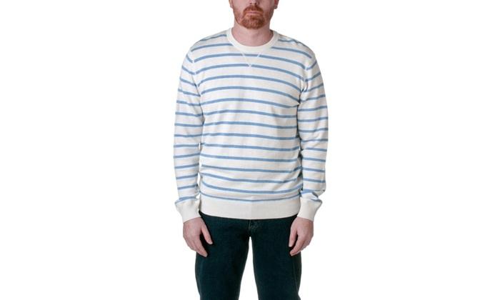 Republic Cotton Striped Crew Pullover Sweater CX310