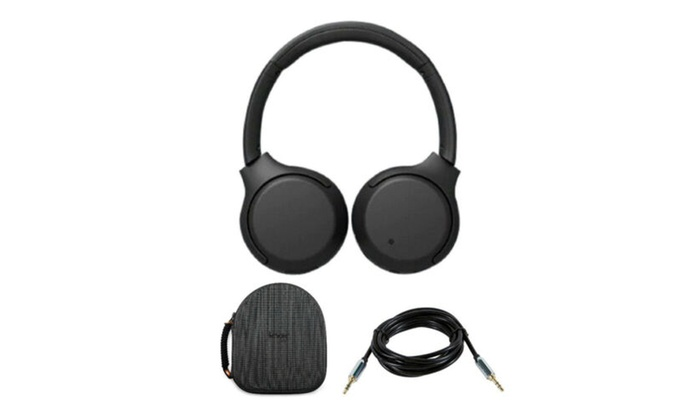 Sony Wh Xb700 Wireless Extra Bass Headphones Black With Aux Cable And Case Groupon