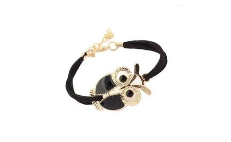 Retro Cute Owl Decor All Match Faux Leather Strap Bracelet for Women 20af462c-caf4-48ef-9778-a2fdff914c9b