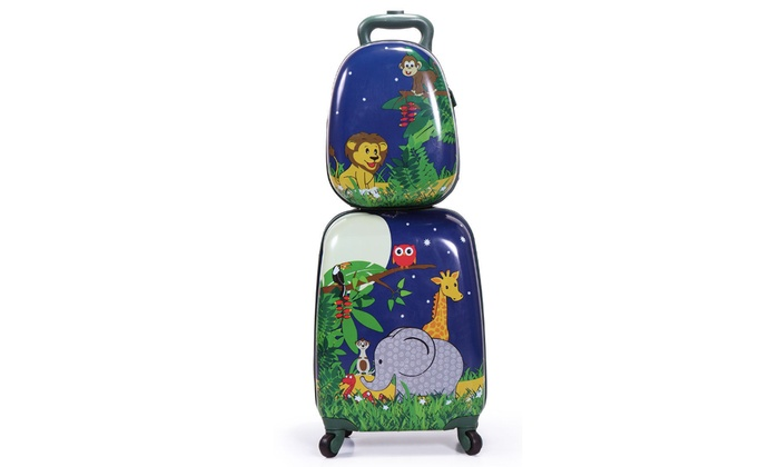 934127c7c Kids Suitcase Luggage Set 2Pc Carry On Luggage With Wheels Rolling Cute  Travel