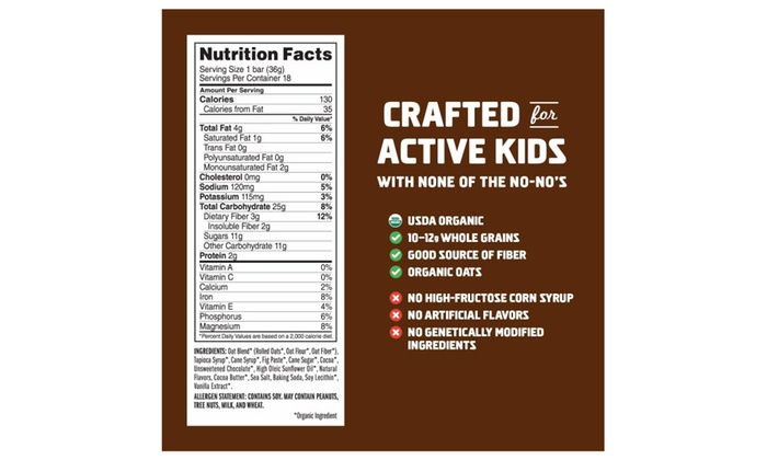 CLIF KID ZBAR - Organic Energy Bar - Chocolate Brownie 18 Count