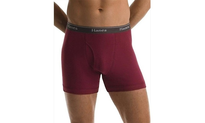 Hanes Classics Mens Assorted Dyed Boxer Briefs P5