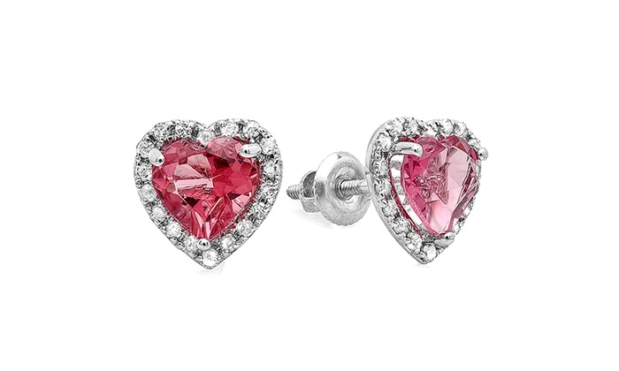 9eee95784 Up To 68% Off on 1.65 ctw 10K Pink Tourmaline ... | Groupon Goods