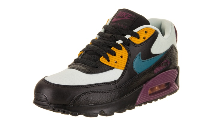 Details about Nike Women's Air Max 90 Lifestyle Shoes Light Silver Black Sneakers 325213 058