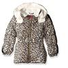 Pink Platinum Girls' Cheetah Print Puffer Jacket
