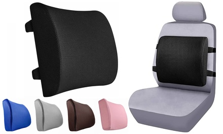 Comfort Lumbar Support Pillow for Office Chair Memory Foam Back Cushion for Car