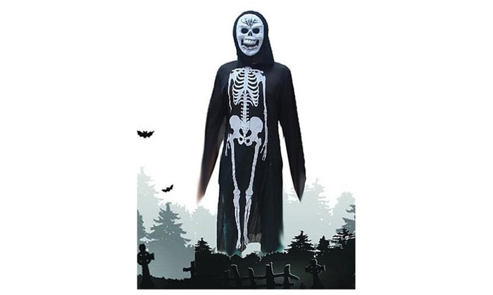 XINHAOK Halloween Costumes The Skeleton Ghost Costumes , black and white - as picture / one size