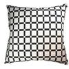 Natural Geo Geometric Black & White Checkerboard Cotton Throw Pillow