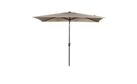 Abba Patio 6.6 by 9.8 Ft Market Outdoor Table Umbrella -Beige 12ae926d-fc61-47ec-bdf7-b35d17edf8f1