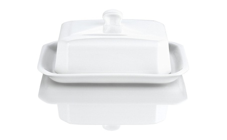 Pillivuyt 270313BX Large Butter Tray With Cover European Style 4ae46e26-c853-451f-90eb-e2e2fd5748d5