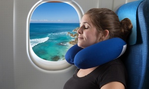 Memory Foam Travel Pillow with Gel That Cools for Head/Neck Support