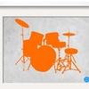 Orange Drum Set by  NaxArt