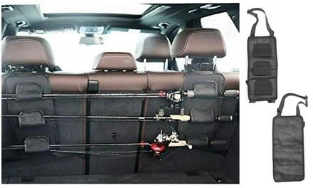 Fishing Rod Rest Holder Car Carrier Vehicle Backseat Rod Rack Poles Storage