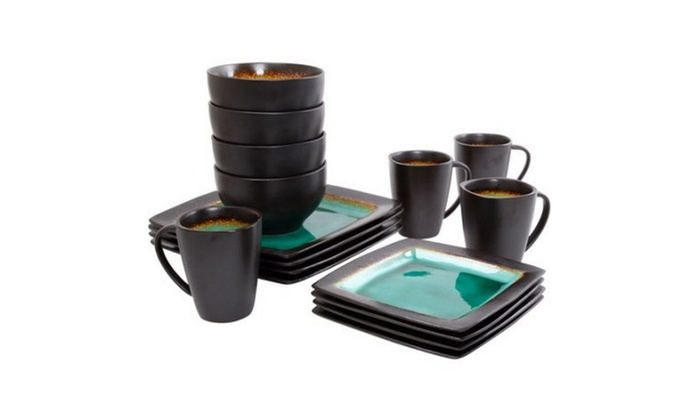 Gibson Everyday Ocean Oasis 16-Piece Dinnerware Set  sc 1 st  Groupon & Up To 56% Off on Gibson Everyday Ocean Oasis 1... | Groupon Goods