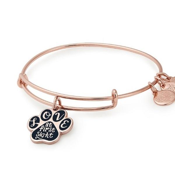 5535b0cd81fb1 Alex And Ani LOVE AT FIRST SIGHT Shiny Rose Charm Bangle w/ Tag Card & Box